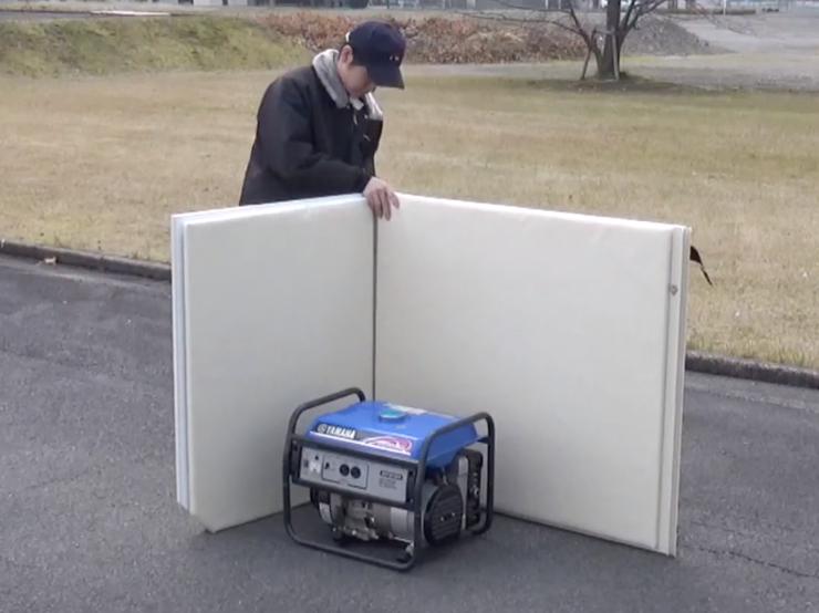 防音パネルの囲み方事例